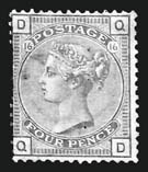 Sale Number 808, Lot Number 1044, Great Britain 1877, 4p Pale Olive Green (70; SG 153), 1877, 4p Pale Olive Green (70; SG 153)