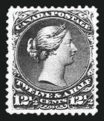 Sale Number 808, Lot Number 769, Canada Cents Issues to Large Queens 1868, 12-1/2c Blue (28; SG 60c), 1868, 12-1/2c Blue (28; SG 60c)