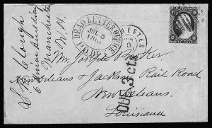 Sale Number 810, Lot Number 1673, Dead Letter Office MailDead Letter Office P.O.Dpt. Jul. 5, 1861, Dead Letter Office P.O.Dpt. Jul. 5, 1861