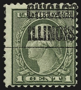 Sale Number 811 Lot 220 Later Issues1c Green Rotary Perf 11