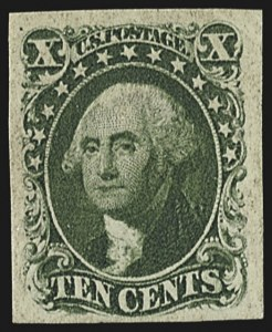 Sale Number 812, Lot Number 15, 5-cent to 12c 1851-56 Issue10c Green, Ty. IV (16), 10c Green, Ty. IV (16)