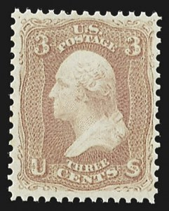 Sale Number 813, Lot Number 613, 1861-66 Issue3c Rose Pink (64b), 3c Rose Pink (64b)