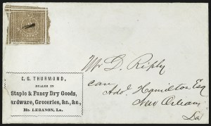 Sale Number 815, Lot Number 93, Mount Lebanon La., 5c Red Brown (60X1)
