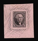 Sale Number 816, Lot Number 1004, 1847 Issue Large Die Proofs5c Red Brown, 10c Black, Large Die Proofs on Pink Bond (1P1b-2P1b), 5c Red Brown, 10c Black, Large Die Proofs on Pink Bond (1P1b-2P1b)