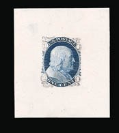 Sale Number 816, Lot Number 1124, 1c 1861-66 Issue Essays1c Blue, Die Essay on Old Proof Paper (63-E7), 1c Blue, Die Essay on Old Proof Paper (63-E7)