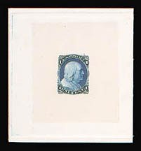 Sale Number 816, Lot Number 1128, 1c 1861-66 Issue Essays1c Blue, Die Essay on India (63-E9b), 1c Blue, Die Essay on India (63-E9b)