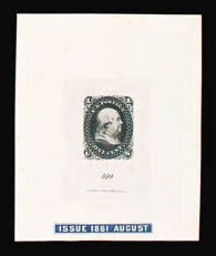 Sale Number 816, Lot Number 1130, 1c 1861-66 Issue Essays1c Black, First Design, Die Essay on India (63-E11a), 1c Black, First Design, Die Essay on India (63-E11a)