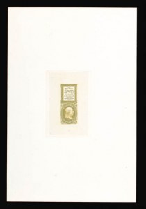 Sale Number 816, Lot Number 1135, 1c 1861-66 Issue Essays1c Blue Green, Bowlsby Patent Coupon, Die Essay on India (63-E13a), 1c Blue Green, Bowlsby Patent Coupon, Die Essay on India (63-E13a)
