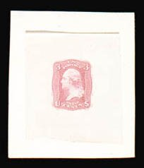 Sale Number 816, Lot Number 1160, 3c 1861-66 Issue Essays3c Pink, First Design, Die Essay on India (65-E15c), 3c Pink, First Design, Die Essay on India (65-E15c)
