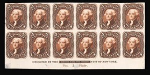 Sale Number 816, Lot Number 1173, 5c 1861-66 Issue Essays5c Brown, First Design, Plate Essay on India (67-E9d), 5c Brown, First Design, Plate Essay on India (67-E9d)