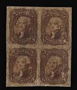 Sale Number 816, Lot Number 1175, 5c 1861-66 Issue Essays5c Brown, Lowenberg Decalcomania Plate Essay (76-E), 5c Brown, Lowenberg Decalcomania Plate Essay (76-E)