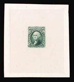 Sale Number 816, Lot Number 1176, 10c-12c 1861-66 Issue Essays10c Yellowish Green, Die Essay on India (68-E3), 10c Yellowish Green, Die Essay on India (68-E3)