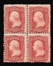 Sale Number 816, Lot Number 1217, 1861-66 Issue Stamps and Large Die Proofs - sets and 1c-3c3c Lake (66), 3c Lake (66)