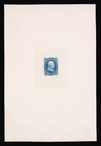 Sale Number 816, Lot Number 1222, 1861-66 Issue Stamps and Large Die Proofs - sets and 1c-3c1c Blue, Large Die Proof on India (63P1), 1c Blue, Large Die Proof on India (63P1)