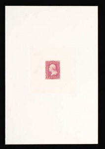Sale Number 816, Lot Number 1225, 1861-66 Issue Stamps and Large Die Proofs - sets and 1c-3c3c Pink, Hybrid Large Die Proof on India (64P1), 3c Pink, Hybrid Large Die Proof on India (64P1)