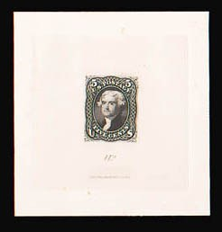 Sale Number 816, Lot Number 1231, 5c-12c 1861-66 Issue Large Die Proofs5c Black, Large Die Trial Color Proof on India (76TC1), 5c Black, Large Die Trial Color Proof on India (76TC1)
