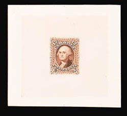 Sale Number 816, Lot Number 1235, 5c-12c 1861-66 Issue Large Die Proofs12c Brown, Large Die Trial Color Proof on India (69TC1), 12c Brown, Large Die Trial Color Proof on India (69TC1)