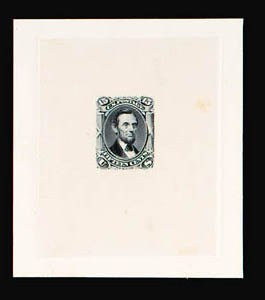 Sale Number 816, Lot Number 1239, 15c-24c 1861-66 Issue Large Die Proofs15c Gray Black, Large Die Trial Color Proof on India (77TC1), 15c Gray Black, Large Die Trial Color Proof on India (77TC1)
