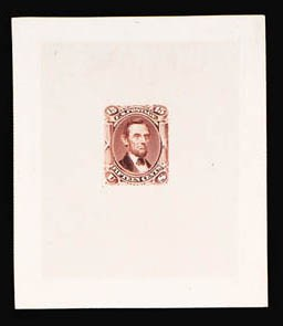 Sale Number 816, Lot Number 1240, 15c-24c 1861-66 Issue Large Die Proofs15c Red Brown, Large Die Trial Color Proof on India (77TC1), 15c Red Brown, Large Die Trial Color Proof on India (77TC1)