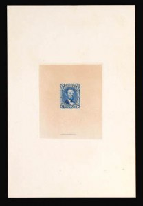 Sale Number 816, Lot Number 1244, 15c-24c 1861-66 Issue Large Die Proofs15c Deep Blue, Large Die Trial Color Proof on India (77TC1), 15c Deep Blue, Large Die Trial Color Proof on India (77TC1)