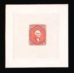 Sale Number 816, Lot Number 1246, 15c-24c 1861-66 Issue Large Die Proofs24c 1861 Issue, Large Die Trial Color Proof on India (70TC1), 24c 1861 Issue, Large Die Trial Color Proof on India (70TC1)