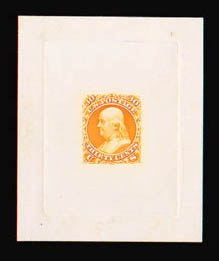 Sale Number 816, Lot Number 1249, 30c-90c 1861-66 Issue Large Die Proofs30c Orange, Large Die Proof on India (71P1), 30c Orange, Large Die Proof on India (71P1)