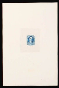 Sale Number 816, Lot Number 1250, 30c-90c 1861-66 Issue Large Die Proofs90c Pale Blue, Large Die Proof on India (72P1), 90c Pale Blue, Large Die Proof on India (72P1)