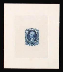Sale Number 816, Lot Number 1251, 30c-90c 1861-66 Issue Large Die Proofs90c Blue, Large Die Proof on India (72P1), 90c Blue, Large Die Proof on India (72P1)