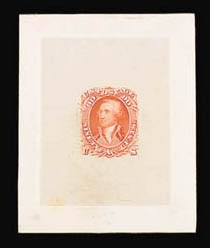 Sale Number 816, Lot Number 1253, 30c-90c 1861-66 Issue Large Die Proofs90c 1861 Issue, Large Die Trial Color Proof on India (72TC1), 90c 1861 Issue, Large Die Trial Color Proof on India (72TC1)