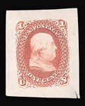 Sale Number 816, Lot Number 1269, 1861-66 Issue Small Die Proofs1c Brown, Red, Small Die Trial Color Proof on India (63TC2), 1c Brown, Red, Small Die Trial Color Proof on India (63TC2)