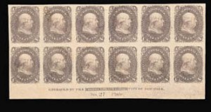 Sale Number 816, Lot Number 1286, 1861-66 Issue Plate Proofs - sets and 1c-3c1c Lowenberg Patent, Plate Proof on Surface Starched Paper, Imperforate (63TC5 var), 1c Lowenberg Patent, Plate Proof on Surface Starched Paper, Imperforate (63TC5 var)