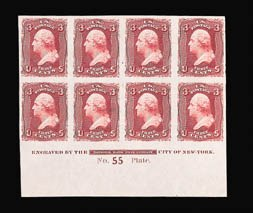 Sale Number 816, Lot Number 1289, 1861-66 Issue Plate Proofs - sets and 1c-3c3c Loake, Plate Proof on India (66P3), 3c Loake, Plate Proof on India (66P3)