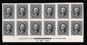 Sale Number 816, Lot Number 1295, 12c-90c 1861-66 Issue Plate Proofs12c Black, Plate Proof on India (69P3), 12c Black, Plate Proof on India (69P3)
