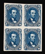 Sale Number 816, Lot Number 1296, 12c-90c 1861-66 Issue Plate Proofs15c Deep Blue, Trial Color Plate Proof on India (77TC3), 15c Deep Blue, Trial Color Plate Proof on India (77TC3)