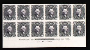 Sale Number 816, Lot Number 1298, 12c-90c 1861-66 Issue Plate Proofs24c Lilac, Plate Proof on India (78P3), 24c Lilac, Plate Proof on India (78P3)
