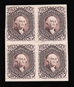 Sale Number 816, Lot Number 1299, 12c-90c 1861-66 Issue Plate Proofs24c Lilac, Plate Proof on India (78P3), 24c Lilac, Plate Proof on India (78P3)