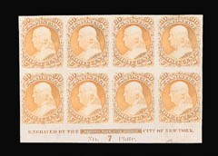 Sale Number 816, Lot Number 1300, 12c-90c 1861-66 Issue Plate Proofs30c Orange, Plate Proof on India (71P3), 30c Orange, Plate Proof on India (71P3)