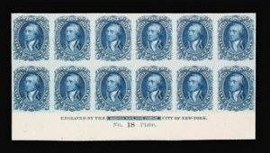Sale Number 816, Lot Number 1301, 12c-90c 1861-66 Issue Plate Proofs90c Blue, Plate Proof on India (72P3), 90c Blue, Plate Proof on India (72P3)