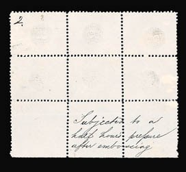 Sale Number 816, Lot Number 1340, 1867-68 Grilled Issues Essays3c Grilled Circle on White Wove, Perforated 12 (79-E13g), 3c Grilled Circle on White Wove, Perforated 12 (79-E13g)