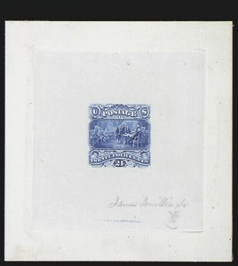 Sale Number 816, Lot Number 1476, 24c 1869 Pictorial Issue Essays24c Blue, Small Numeral Large Die Essay on India (120-E2b), 24c Blue, Small Numeral Large Die Essay on India (120-E2b)