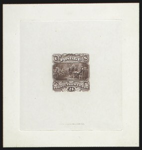 Sale Number 816, Lot Number 1477, 24c 1869 Pictorial Issue Essays24c Dark Red Brown, Small Numeral Large Die Essay on India (120-E2b), 24c Dark Red Brown, Small Numeral Large Die Essay on India (120-E2b)