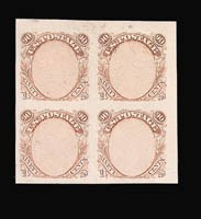 Sale Number 816, Lot Number 1513, 90c 1869 Pictorial Issue Essays90c Frame Only, Plate Essay on Stamp Paper (122-E3), 90c Frame Only, Plate Essay on Stamp Paper (122-E3)