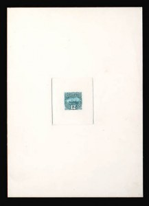 Sale Number 816, Lot Number 1533, 1869 Pictorial Issue Large Die Proofs (12c to 24c)12c Green Large Die Proof Printed Directly on Thick Card (117P1 var), 12c Green Large Die Proof Printed Directly on Thick Card (117P1 var)