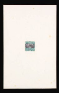 Sale Number 816, Lot Number 1538, 1869 Pictorial Issue Large Die Proofs (12c to 24c)24c Green & Violet, Large Die Proof on India (120P1), 24c Green & Violet, Large Die Proof on India (120P1)