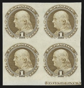 Sale Number 816, Lot Number 1557, 1869 Pictorial Issue Plate Proofs (Groups to 12c)1c Buff, Plate Proof on India (112P3), 1c Buff, Plate Proof on India (112P3)