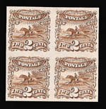 Sale Number 816, Lot Number 1558, 1869 Pictorial Issue Plate Proofs (Groups to 12c)2c Brown, Plate Proof on India (113P3), 2c Brown, Plate Proof on India (113P3)