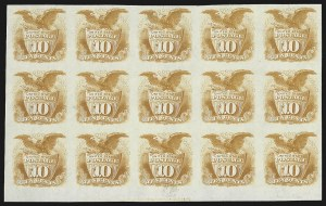 Sale Number 816, Lot Number 1561, 1869 Pictorial Issue Plate Proofs (Groups to 12c)10c Yellow, Plate Proof on India (116P3), 10c Yellow, Plate Proof on India (116P3)