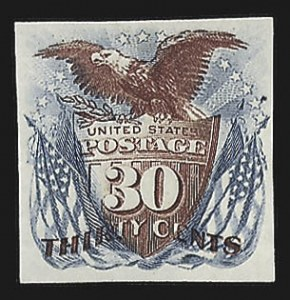 Sale Number 816, Lot Number 1574, 1869 Pictorial Issue Plate Proofs (30c to 90c)90c Ultramarine & Carmine, Plate Proof on Bond (121P3 var), 90c Ultramarine & Carmine, Plate Proof on Bond (121P3 var)