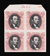 Sale Number 816, Lot Number 1576, 1869 Pictorial Issue Plate Proofs (30c to 90c)90c Carmine & Black, Plate Proof on India (122P3), 90c Carmine & Black, Plate Proof on India (122P3)