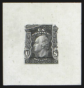 Sale Number 816, Lot Number 1587, 1c-6c Continental Bank Note Co. Issue Unadopted Essays1c Black, Large Die Essay on India (145-E1a), 1c Black, Large Die Essay on India (145-E1a)